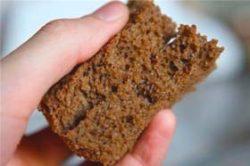 мякиш чёрного хлеба