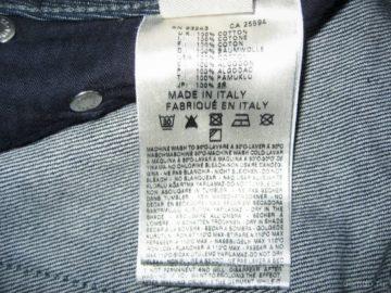 этикетка на джинсах