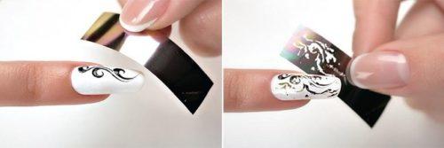 фольга на ногти