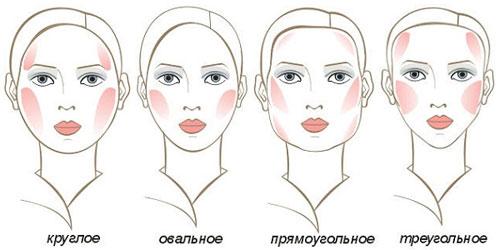 возможные формы лица
