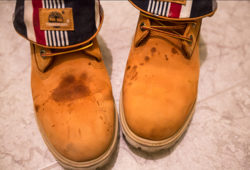 грязные ботинки