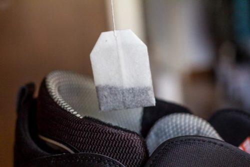 пакетик чая в обуви