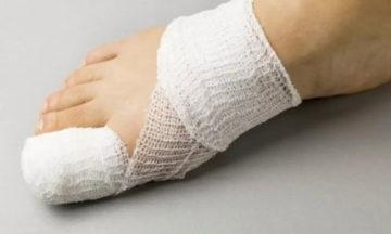 повязка на пальце ноги