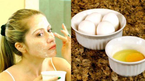 яичная маска на лицо